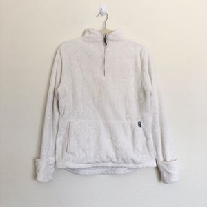The North Face White 1/4 Zip Jacket Size Large